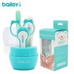 韩国新品bailey婴儿指甲剪套装指甲刀宝宝用防夹肉儿童指甲钳