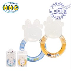 I-nounou卡通婴儿磨牙棒牙咬胶摇铃硅胶玩具